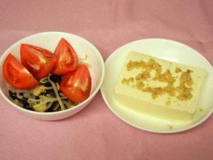 酢の物と豆腐